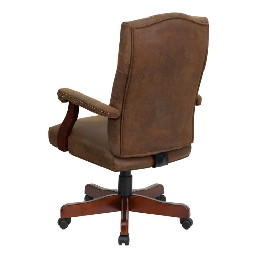 Flash Furniture 802-BRN-GG Bomber Brown Classic Executive Office Chair 2