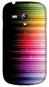 Timpax protective Armor Hard Bumper Back Case Cover. Multicolor printed on 3 Dimensional case with latest & finest graphic design art. Compatible with only Samsung I8190 Galaxy S III mini. Design No :TDZ-20470