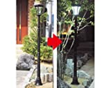 本格庭園ソーラーライト LED19灯搭載 太陽光パネル充電 自動点灯タイプ