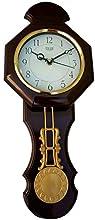 Solar Plastic Wall Clock - (35 X 15 X 70 Cm , Brown, Octagonal)