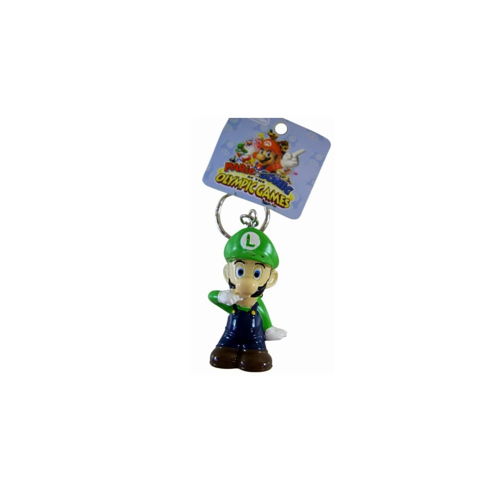 Super Mario Bros.   Standing Standing Luigi Keychain   Mario & Sonic At the Olympic Games Zipper Pull