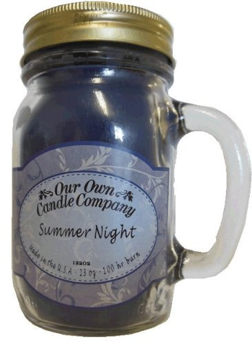 13oz SUMMER NIGHT Scented Jar Candle (Our Own Candle Company Brand) Made in USA - 100 hr burn time