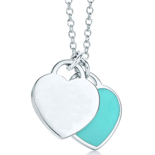 silverlight-double-heart-pendant-necklace-blue-heart-18-in-chain