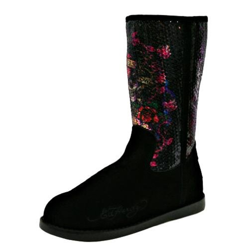 Ed Hardy Women's Bs Iceland Boot,Black-10FBS201W,6 M US (Ed Hardy Rain Boots compare prices)