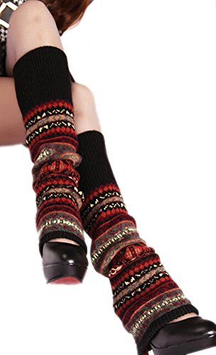 deley-mujeres-de-bohemia-punto-de-ganchillo-calentadores-de-la-pierna-calcetines-de-inicio-negro