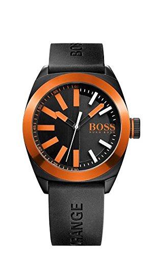 Boss  - Reloj de cuarzo para hombre, correa de goma color negro