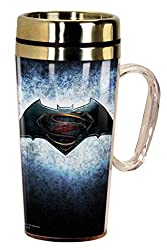 Spoontiques 17200 Dawn of Justice Logo Insulated Travel Mug, Multi
