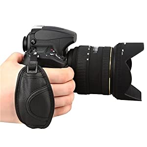 eForCity Leather Hand Grip Strap Compatible with Nikon D5000 D5100 D7000 D90