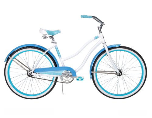 Huffy Women's Good Vibration Cruiser Bike, Gloss White, 26-Inch/Medium