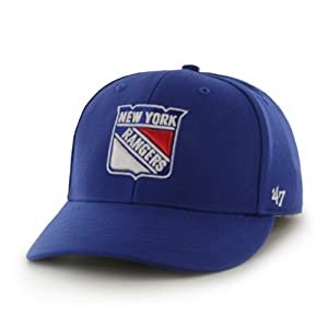 NHL New York Rangers Bullpen MVP Structured Adjustable Cap, One Size, Royal