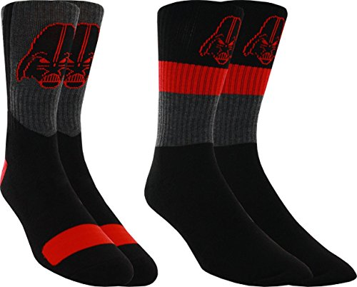 Star Wars Darth Vader Men'S Athletic Crew Socks - Pack Of 2 (Men'S Shoe Sizes 6-12)