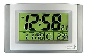 Acctim Stratus Radio Control LCD Wall Clock, Silver