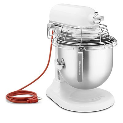 Kitchenaid Ksmc895Wh 8-Qt Commercial Bowl-Lift Stand Mixer With Bowl Guard, White