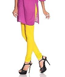 Megha Cotton Leggings (LL6_Yellow)