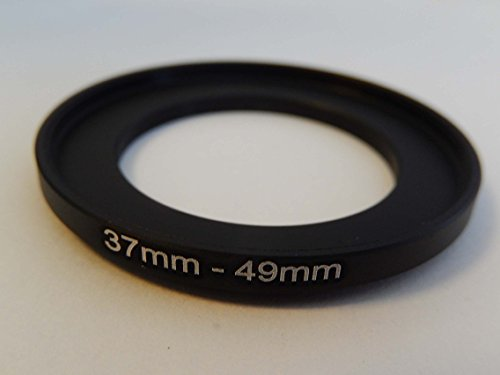 vhbw Step UP Filter-Adapter 37mm-49mm schwarz für Kamera Panasonic, Pentax, Ricoh, Samsung, Sigma, Sony, Tamron
