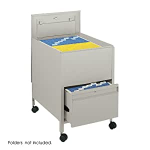 Safco Products 5365PT Locking Mobile Tub File with Drawer, Legal Size, Putty