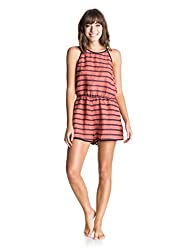 Roxy Women's Linen A-Line Playsuit (ERJWD03019-MLP6_Pink _Medium)