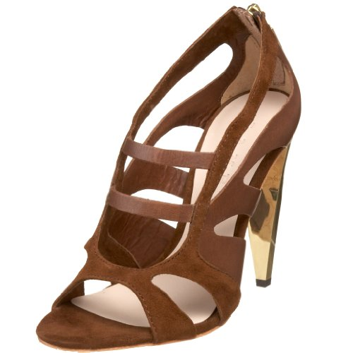 LAMB Women's Dominica Peep-toe Heel Dark Brown G1452 3.5 UK