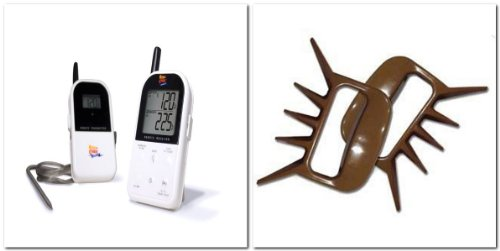 Maverick Et732 Long Range Wireless Dual 2 Probe BBQ Smoker Meat Thermometer Set White +Camerons Products Man Claw