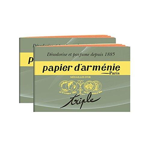 Papier-dArmenie-1-Block-mit-12-Seiten-insg-36-Streifen