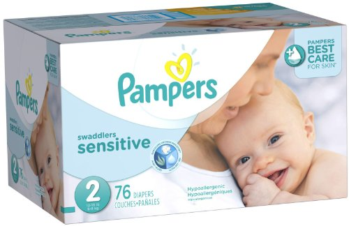 Pampers Swaddlers Sensitive Diapers - Size 2 - 76 ct - 1