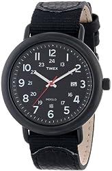 Timex Unisex T2P0149J Casual Black Slip-Thru Strap Watch