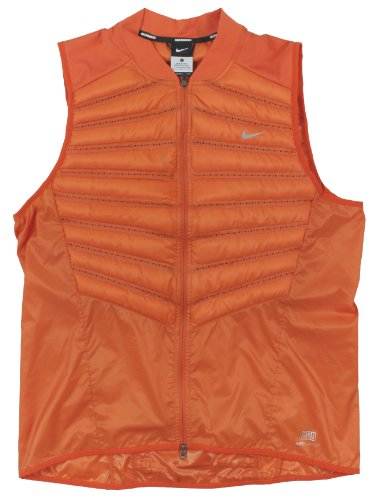 Nike Men's Aeroloft 800 Running Vest, Orange, Large