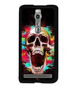 printtech Skull Shout Pattern Back Case Cover for Asus Zenfone 2 , Asus Znfone 2 ZE550ML