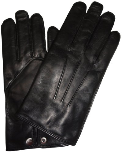 Coach   Coach Mens Cashmere Lined Leather Gloves Black, Medium