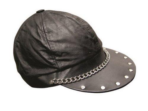 Unisex Adult AL3227 Biker cap One Size Black (Renaissance Skirt & Hat)