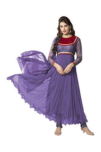 Suitsvilla Dark Purple Latest Frock Style Anarkali Suits