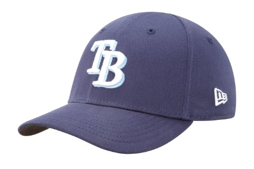 MLB Tampa Bay Rays Kid's Tie Breaker 39Thirty Cap, Light Navy, Child/Youth