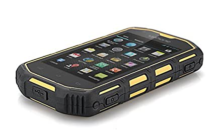Uphone U5A - Smartphone robuste Waterproof Android 4.2 / Dual Core CPU / IP68 / Étanche à la poussière / Résistant aux chocs (Jaune)