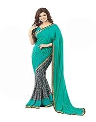 Hari Krishna sarees Self Design Bollywood Georgette Sari/F238