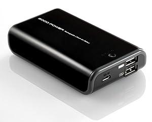 サンワダイレクト 大容量モバイルバッテリー 6000mAh 2台同時充電 iPhone5 iPad スマートフォン対応 700-BTL009