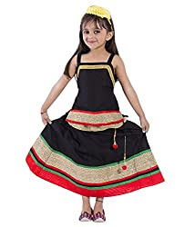 Home Shop Black Gift Cotton Lehenga Choli Set For Kids 2-3 year ( Baby Girl ) Size Lehenga Length-16 inches - Waist-22 inches Size Choli - Length- 16 inches- Cheast-26 inches