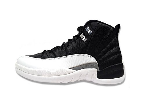 NIKE AIR JORDAN 12 RETRO MENS 130690-001 (11, BLACK / VARSITY RED - WHITE)