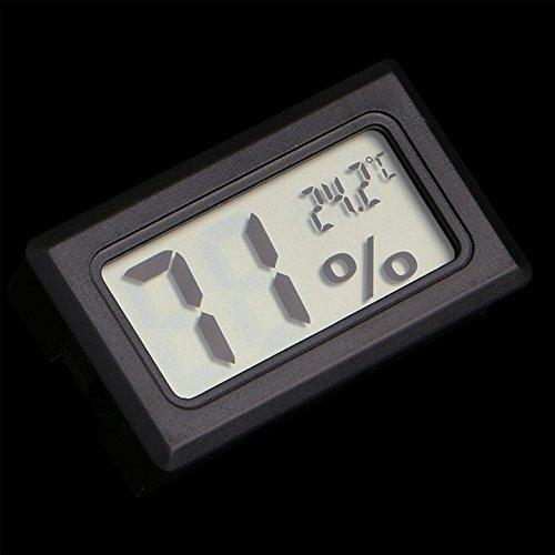 1 X Mini Digital LCD Thermometer Temperature Indoor Humidity Meter Gauge Hygrometer (Black) - 1