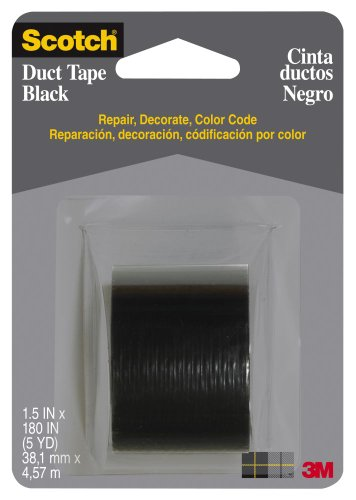 Scotch 1005-Blk-Cd Duct Tape, 5-Yards, Black