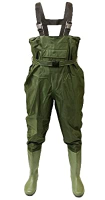 Michigan 100% Waterproof Olive Nylon Fishing Chest Waders with Belt Sizes 6 - 12 from Michigan