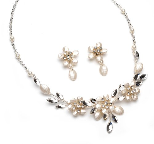 Wedding Jewelry, Frosted Bead & Pearl Bridal