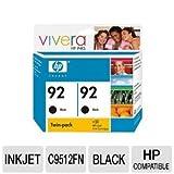 HP 92 Black Printer Cartridge Twinpack (C9512FN#140)