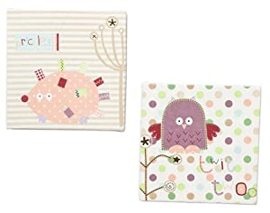 Lollipop Lane Prickles and Twoo Canvas Print Set