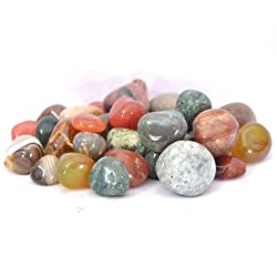 Pebblewala Glossy Stone Pebbles (Multi Color 1 Kg) PBLWLA25