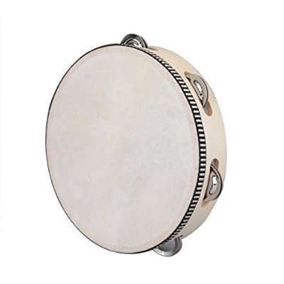 "8"" Musical Tambourine Tamborine Drum Round Percussion Gift for KTV Party"