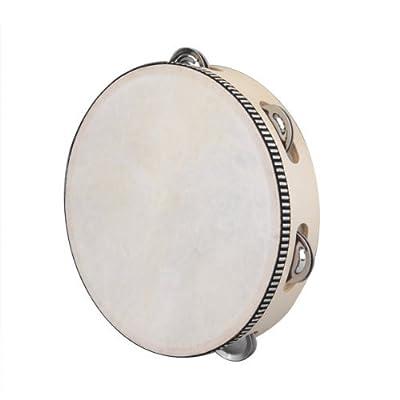 "8"" Musical Tambourine Tamborine Drum Round Percussion Gift for KTV Party"