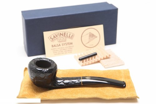 Savinelli Alligator Black 316 Tobacco Pipe