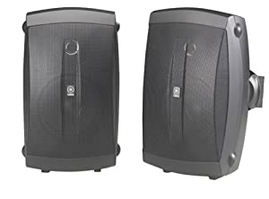Yamaha NS-AW150BL 2-Way Indoor/Outdoor Speakers (Pair, Black)