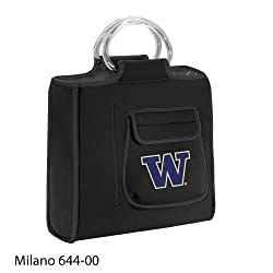 Washington Huskies Milano Insulated Neoprene Lunch Tote - Black w/Digital Print