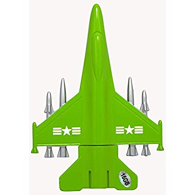 16 GB Pen Drive Green Color Airplane Shape USB 2.0 Pen Drive MT1020